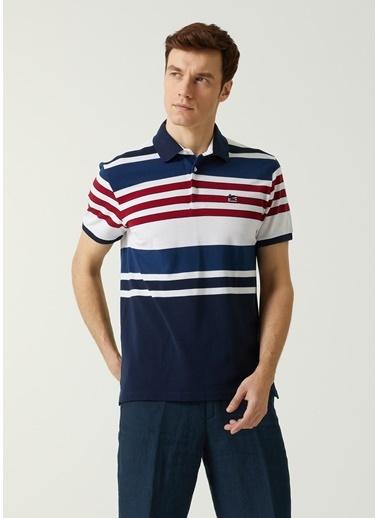 Etro Etro   Polo Yaka Şeritli T-shirt 101618060 Lacivert